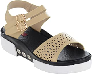 Shuz Touch Golden Women Sandal
