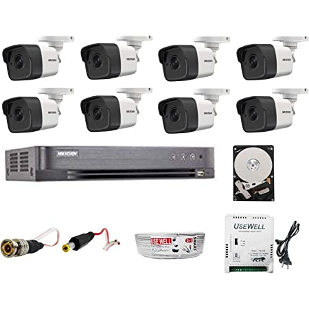 HIKVISION Wired UHD 5MP Security Camera Kit, White