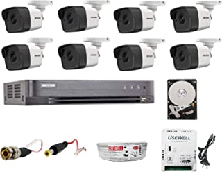 HIKVISION Ultra HD 5MP Cameras Combo KIT 8CH HD DVR+ 8 Bullet Cameras +2TB Hard DISC+ Wire ROLL +Supply & All Required CON...
