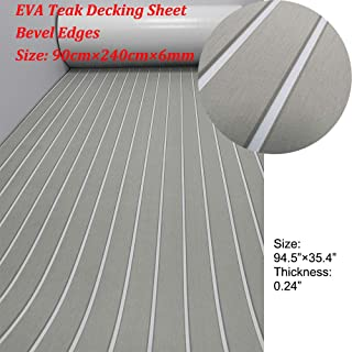 yuanjiasheng EVA Faux Teak Decking Sheet for Boat Yacht Non-Slip and Self-Adhesive Boat Flooring Pad 94.5