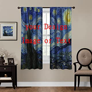 Custom Personalized Blackout Curtains, Photo or Text...
