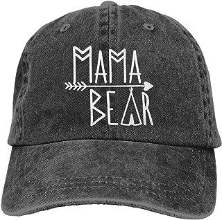 Waldeal Women`s Mama Bear Baseball Cap Vintage Adjustable Dad Denim Hat