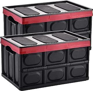 Yorbay Cajas de Almacenamiento Plegables de Plástico, 2