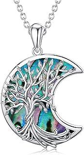 WINNICACA Albero della vita Collana S925 Sterling Silver Abalone Shell Shell Pendant Collana gioielli regali per le donne ...