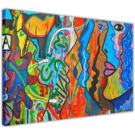 """Art Prints Tableau sur toile Motif abstrait Réimpression d'une peinture à l'huile 09- A0 - 40"""" X 30"""" (101CM X 76CM)"""