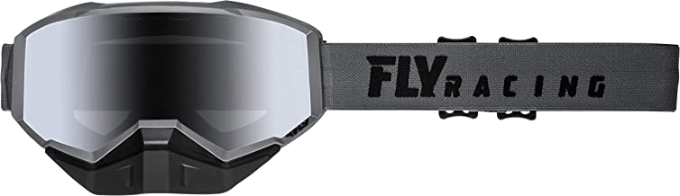 FLY RACING 2019 FOCUS SNOW GOGGLE GREY W/SILVER MIRROR LENS
