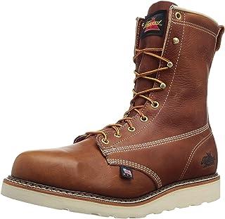 Thorogood Mens 8'' Plain Toe Wedge 814-4364 Leather Boots