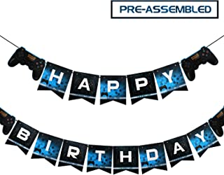 Faisichocalato Video Game Happy Birthday Banner Gaming Party Supplies