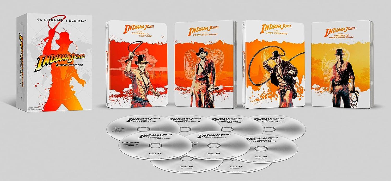 Colección Indiana Jones (4K UHD + BD) (Steelbook) - BD [Blu-ray]