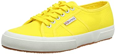 Superga 2750 COTU Yellow Sneakers Unisex Canvas Shoes