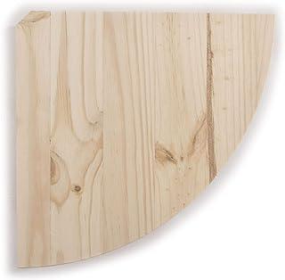 Estantería esquinera de madera natural / 3 tamaños / pino flotante estante de pared para bricolaje
