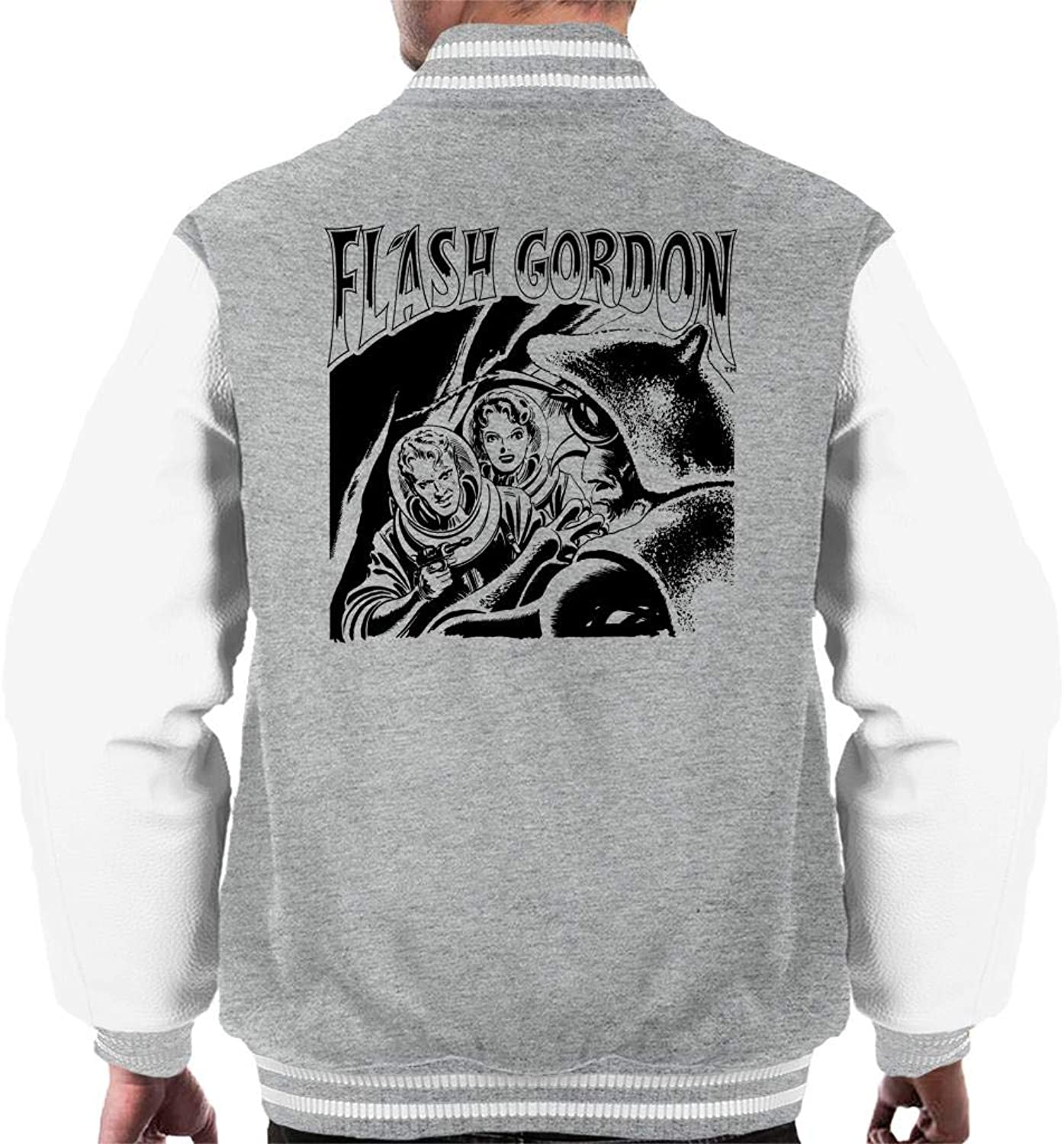 Flash Gordon Comic Bug Showdown Men's Varsity Jacket
