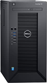 Dell PowerEdge T30 Tower Server - Intel Xeon E3-1225 v5 Quad-Core Processor up to 3.7 GHz, 32GB DDR4 Memory, 2TB (RAID 1) SATA Hard Drive, Intel HD Graphics P530, DVD Burner, No Operating System