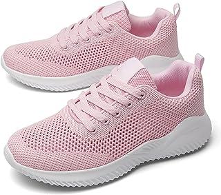 Damen Sneaker Sportschuhe Turnschuhe Freizeit Schuhe Weiß Pink 36-41 Neu 17055