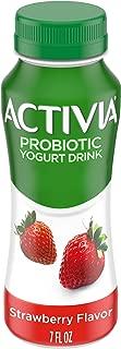 Dannon Activia Yogurt Drink, Strawberry, 7 Ounce Lowfat Probiotic Yogurt Smoothie, Flavored Yogurt Drink