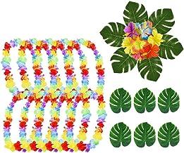 Oggetto Perfetto per addii Celibato//Nubilato TRIXES 10 PZ Corona di Fiori Hawaiana Collana Fiori Tropicali Aloha Hawaii Luau