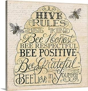 Hive Rules Canvas Wall Art Print, 16