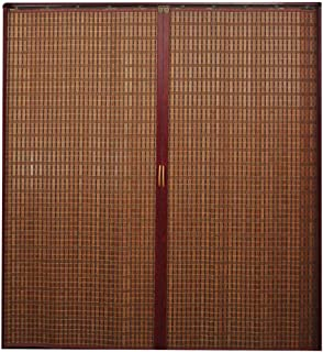 Jcnfa-Roller Shades Bamboo Curtain Folding Sliding Door, Cut Off The Curtain, Living Room Decoration, Push and Pull Left and Right, Home/Kitchen/Shop