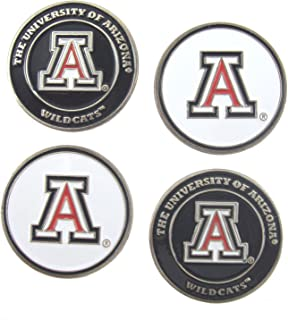 Waggle Pro Shop Arizona Wildcats Double Sided Golf Ball Marker (Set of Four)