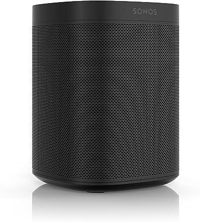Sonos One – Bocina inteligente controlada por voz con Amazon Alexa, Color Negro