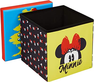 "Disney Minnie Mouse Storage Ottoman, 15"" Toy Box"