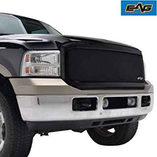 EAG Replacement Grille Black Stainless Steel Wire Mesh with ABS Shell Fit for 05-07 Ford F250/F350