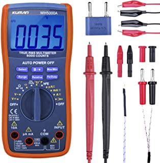 Kuman Digital Multimeter, True RMS 6000 Counts Multimeters Manual and Auto Ranging,..