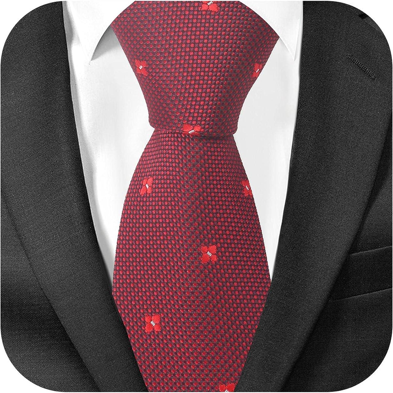 New Jacquard Plaid Tie Men Women Polyester Striped Neck Wedding Business Adult Suits Skinny Ties Slim Necktie