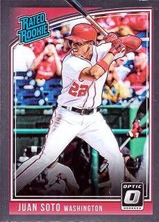 2018 Panini Donruss Optic Baseball #181 Juan Soto Rookie Card - Rated Rookie