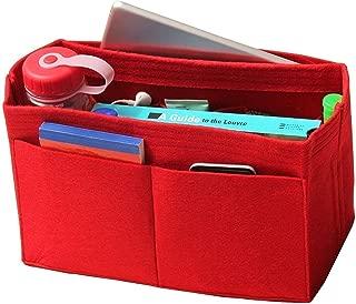 [Fits Neverfull MM/Speedy 30, Red] Felt Organizer, Bag in Bag, Wool Purse Insert, Customized Tote Organize, Cosmetic Makeup Diaper Handbag