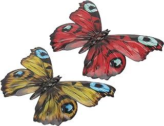UPKOCH 2pcs Metal Butterfly Wall Art Butterfly Hanging Decoration Butterfly Wall Sculputre for Bedroom Wall Living Room Ou...