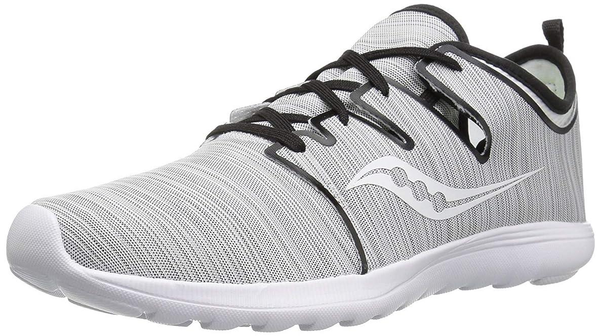 接触意図的内訳Saucony(サッカニー) レディース 女性用 シューズ 靴 スニーカー 運動靴 Eros Lace - Grey Stripe 5.5 B - Medium [並行輸入品]