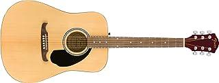 Fender FA-125 Dreadnought Acoustic Guitar - Natural Bundle with Gig Bag, Tuner, Strap, Strings, Picks, and Austin Bazaar I...