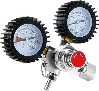 SKYTOU Dual Gauge CO2 Regulator, Keg Beer Regulator CGA-320 Inlet for Draft Beer Homebrew Kegerator Dispensing Regulator
