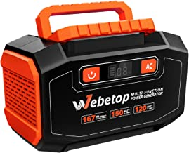 Webetop 167Wh 45000mAh Portable Generator Inverter Battery 150W Camping Emergency Home..