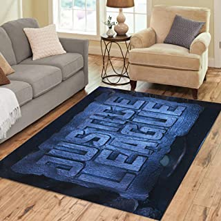 Semtomn Area Rug 3' X 5' Bangkok Thailand November 11 Standee of Justice League Display Home Decor Collection Floor Rugs Carpet for Living Room Bedroom Dining Room