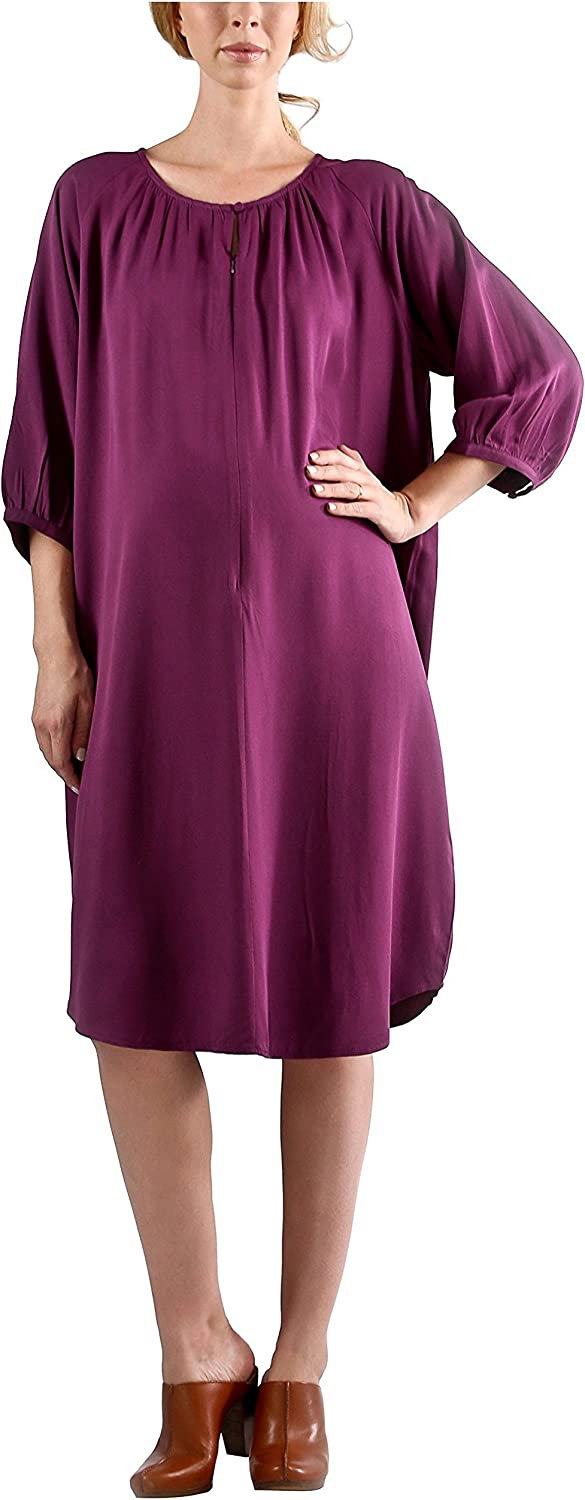 Madeleine Maternity Women's Maternity Opera Dress, Purple, S