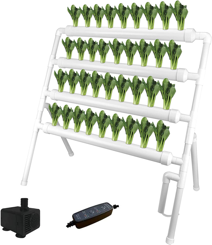 CosCosX Hydroponic Grow Kit 4 Layers 即出荷 信頼 36 Sites Holes PVC Plant Pi