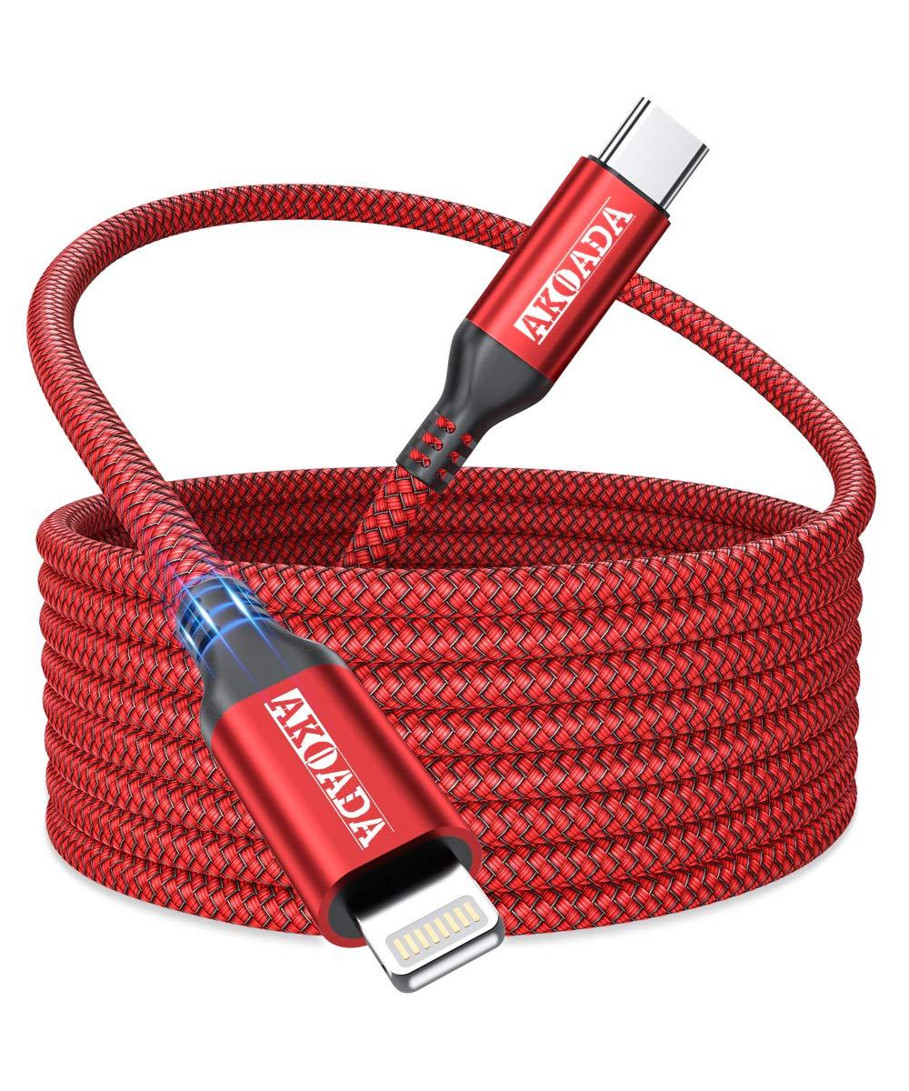 AkoaDa USB C to Lightning Very popular Cable 10ft Braided Type Nylon New item iPhon
