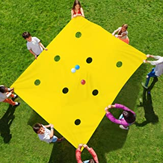 Sonyabecca Hole Tarp Team Building Exercise Activities Games Teamwork Group Learning Fun Playing 84``Lx55``W(Other Size:98``Lx71``W)