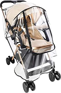 CharmCollection Universal Rain Cover for Stroller Weather Shield for Pushchair, Buggy and Pram Easy to Install Pushchair S...