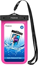 MoKo Funda Impermeable - Waterproof Brazo y Cuello Compatible para iPhone 7/ 7 Plus/ iPhone 6s/ 6s Plus/ Galaxy S7/ S7 Edge/ P7 P8 P9 y Smartphone 5.7 Pulgadas - IPX8 Certificado, Fucsia