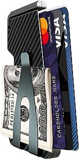 Carbon Fiber Wallets for Men Aluminium Slim Small Minimal RFID Blocking Credit Card Holder Metal Minimalist Wallets with M...