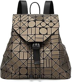 Ladies Fashionable Handbag Geometry Rhombus Autumn Winter Japanese Folding Matte Backpack