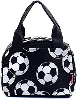 N. Gil Women and Children's Insulated Lunch Bag (Soccer Black)