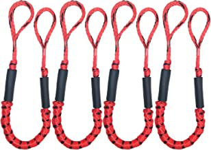 Abeauty Boat Dock Line - 4 Pack Bungee Docklines Mooring Rope for Boat Kayak Boat Jet Ski Pontoon PWC Boat Accessories (3 1/2ft Stretches to 5 1/2 ft)