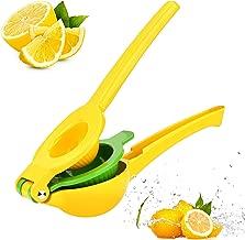 BYETOO Top Rated Premium Quality Metal Lemon Lime Squeezer - Manual Citrus Press Juicer FreshForce Citrus Juicer Aluminum Lime Squeezer Yellow
