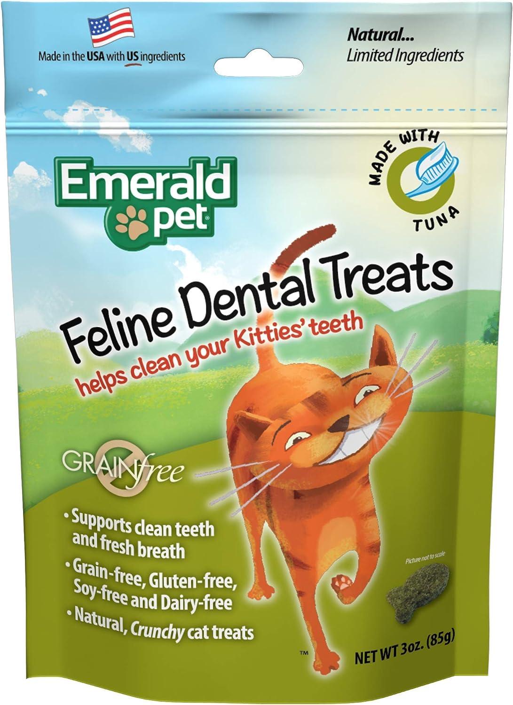 Esmeralda de Mascota Gato Pollo Dental sin Grano Treats