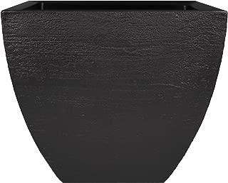Tusco Products MSQ20BK Modern Square Garden Planter, 20-Inch, Black