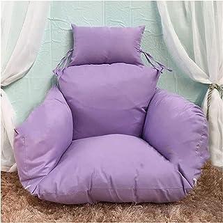 Muebles de jardín Cojines para sillas Cojines Colgantes para sillas con Forma de Huevo, Columpio Nido de una Sola Cesta Colgando Huevos Cojines para sillas Hamaca extraíbles y Lavables (Borgoña)